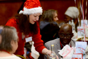 Christmas Lunch 2018 Hammersmith Town Hall volunteer