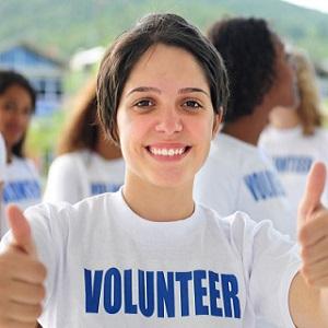 Teen volunteer