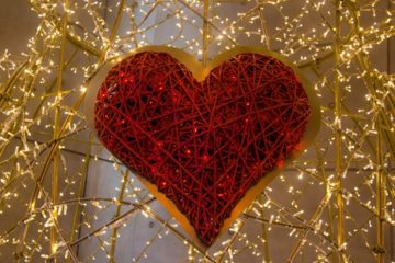heart made of lights