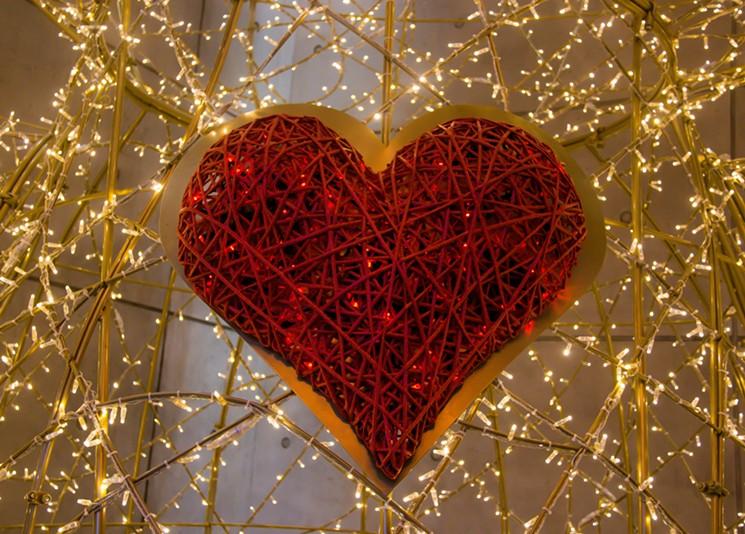 heart made of lights