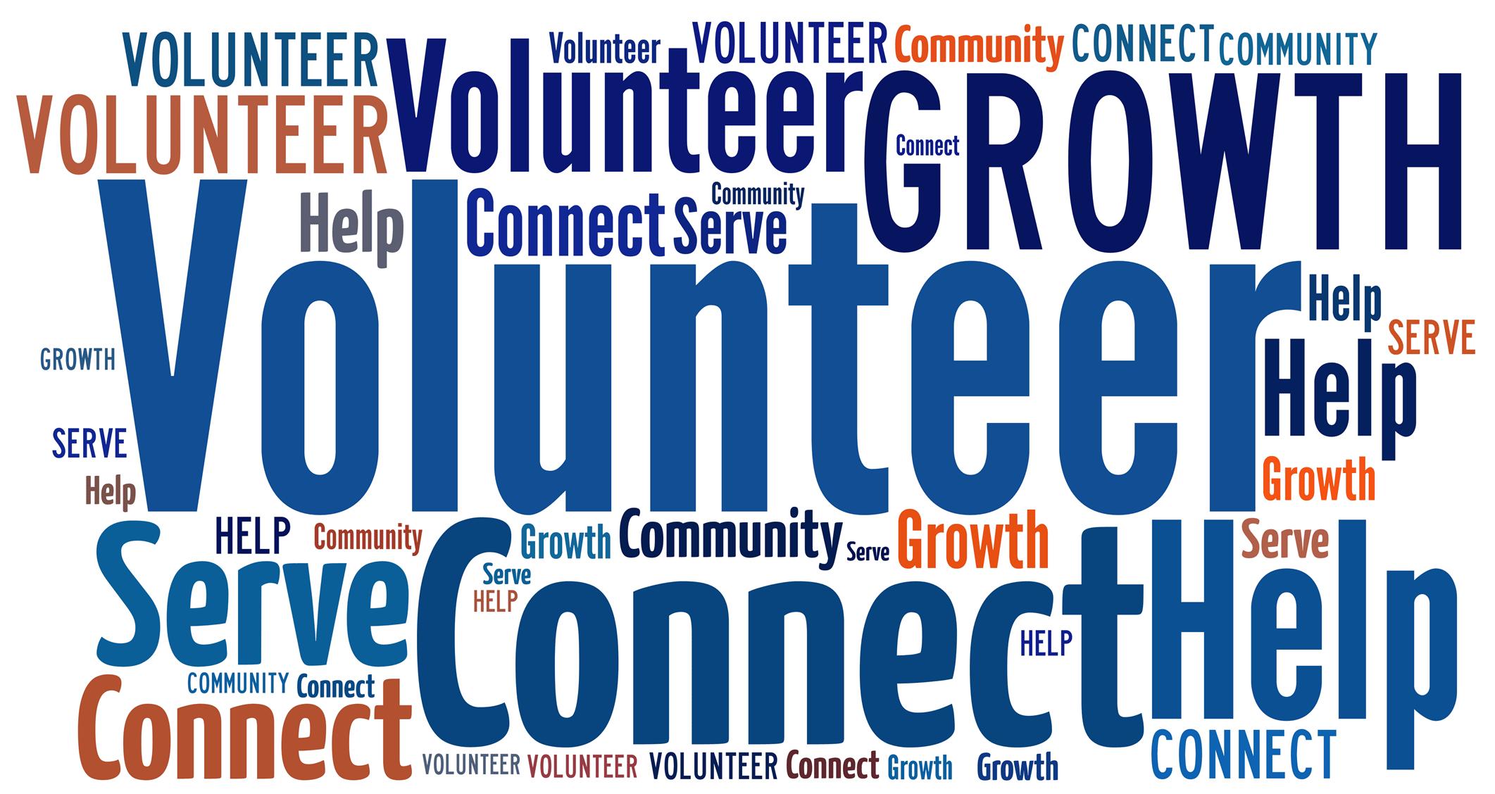volunteering mind map words