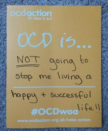 OCD Week of Action OCDwoa sheet on OCD