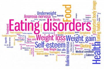 eating disorders word cloud